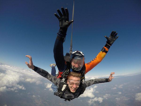 lancio tandem col paracadute Gigi pt