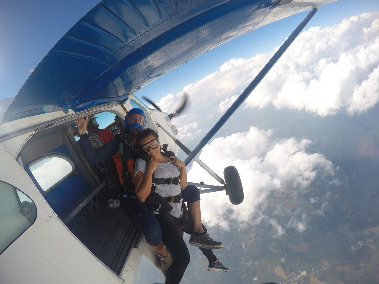 exit lancio tandem paracadutismo