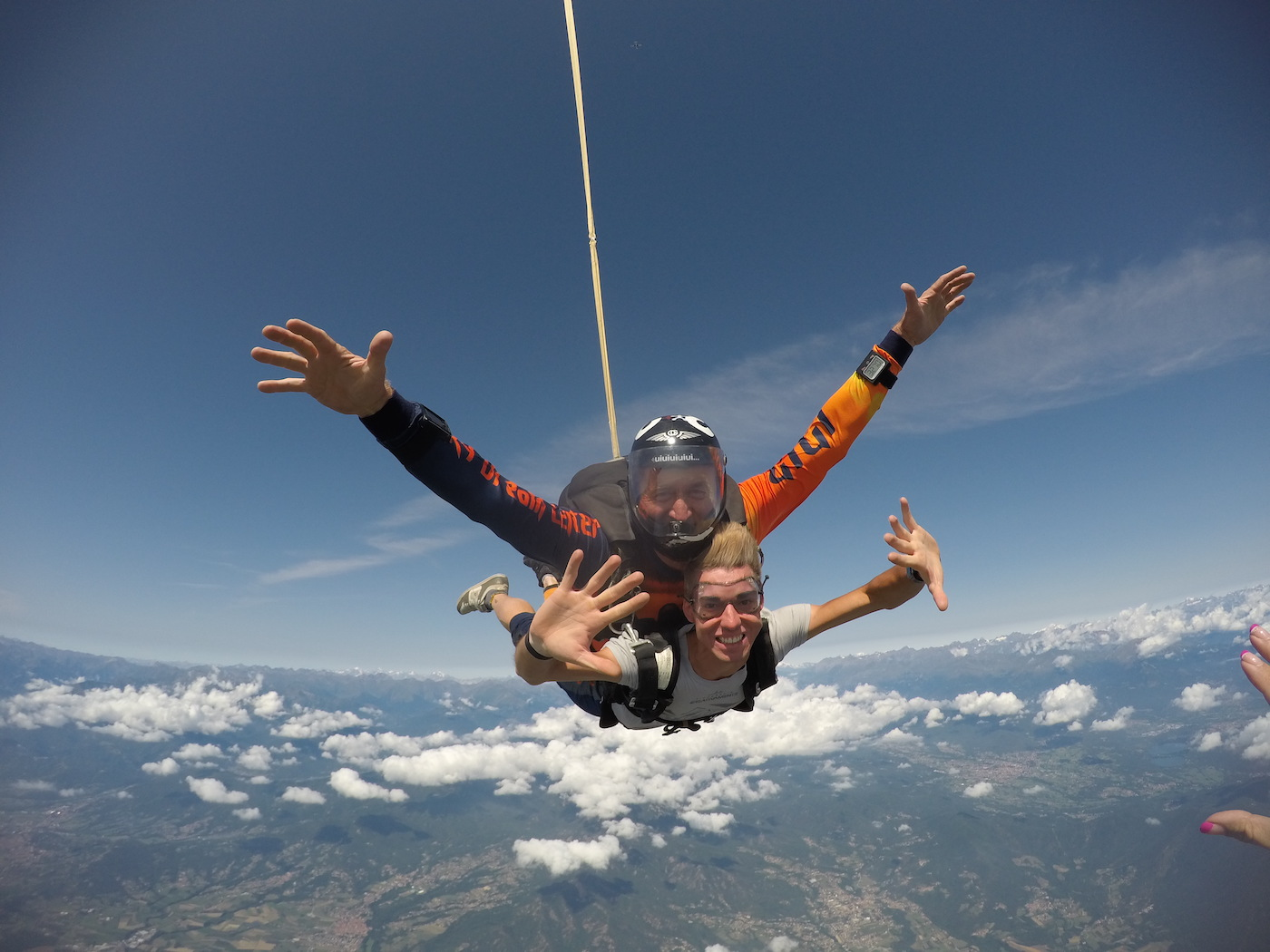 lancio tandem col paracadute
